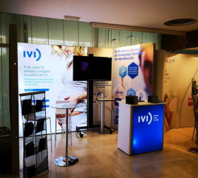 Backlit Exhibition Stand for IVI Spain