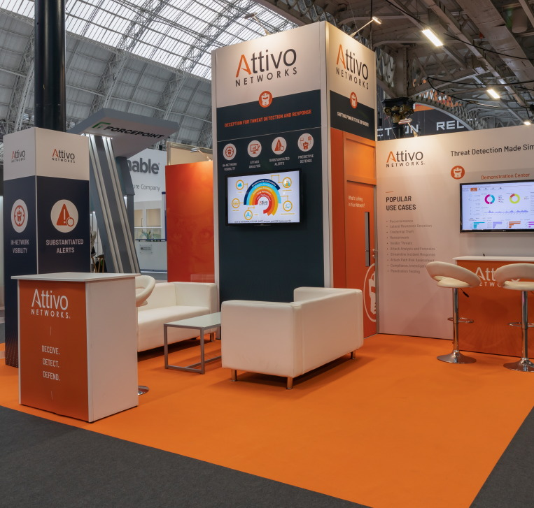 View of Modular Exhibition Stands produced by Nomadic Display